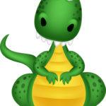 Cartoon of a friendly looking dragon