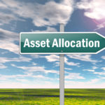 """Road sign saying """"asset allocation"""" against a blue sky"""