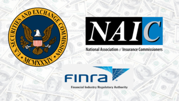 Photo of the logos of the SEC, NAIC, and FINRA--all of whom have written investor bulletins about annuities and the 11 critical questions folks should ask before buying them.